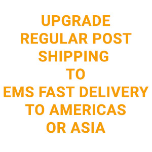 Upgrade regular post shipping to EMS fast delivery to the Americas and Asia