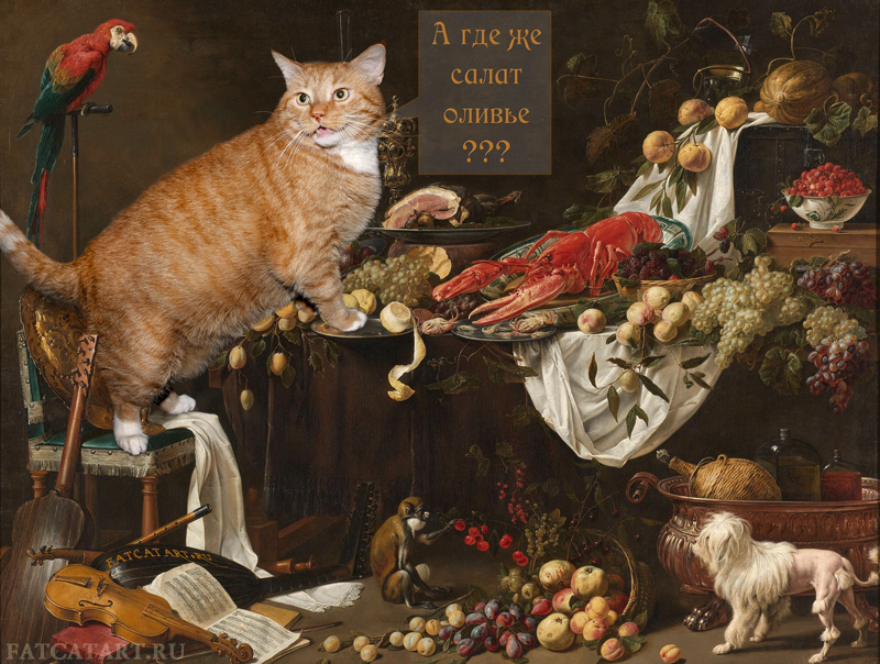 Adriaen van Utrecht, Still Life inmpoved by the Cat