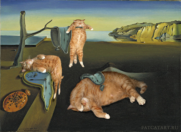 Salvador Dali, The Persistence of Cat's Memory | FatCatArt