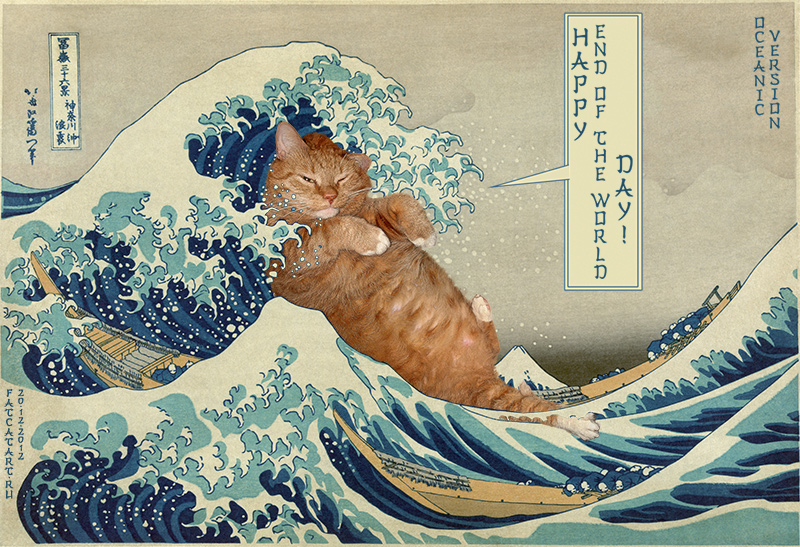 Katsushika Hokusai, The great wave off shore of Kanagawa, or Happy End of the World Day!