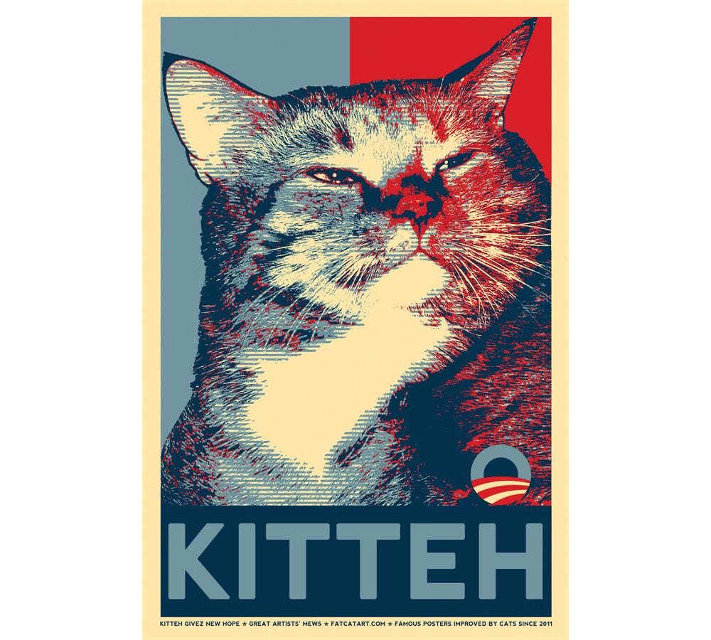 Shepard Fairey, Hope. Kitteh