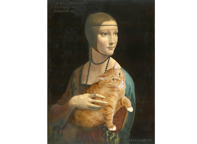 Leonardo Da Vinci, Lady with a Cat pretending to be an Ermine