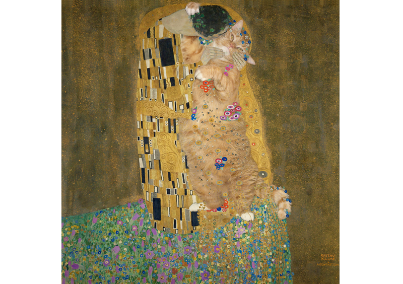 Gustav Klimt, The Kiss, true version