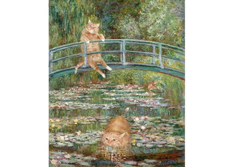 Клод Моне, Купание в пруду с водяными лилиями