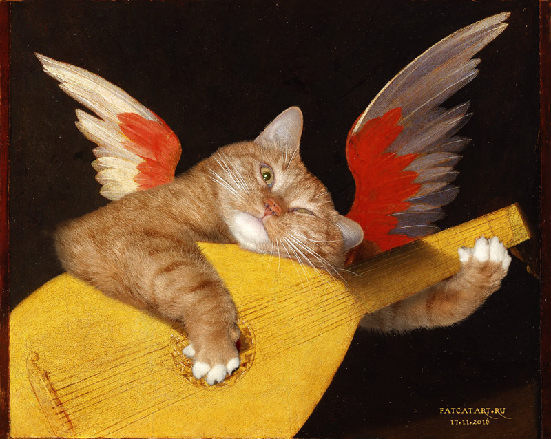 Rosso Fiorentino. Musical Angel Cat