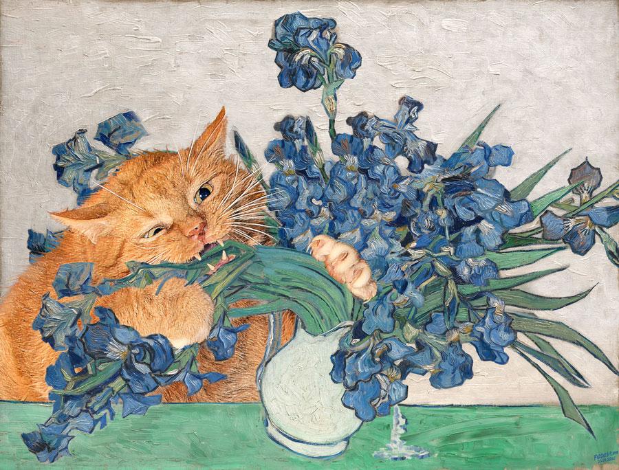 Vincent van Gogh. Irises and the Cat