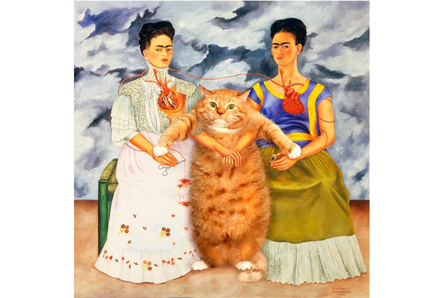 Frida Kahlo. Two Fridas and One Cat