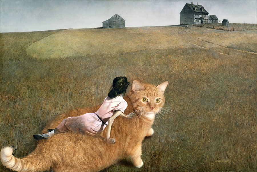 Andrew Wyeth. The Cat in Christina's World