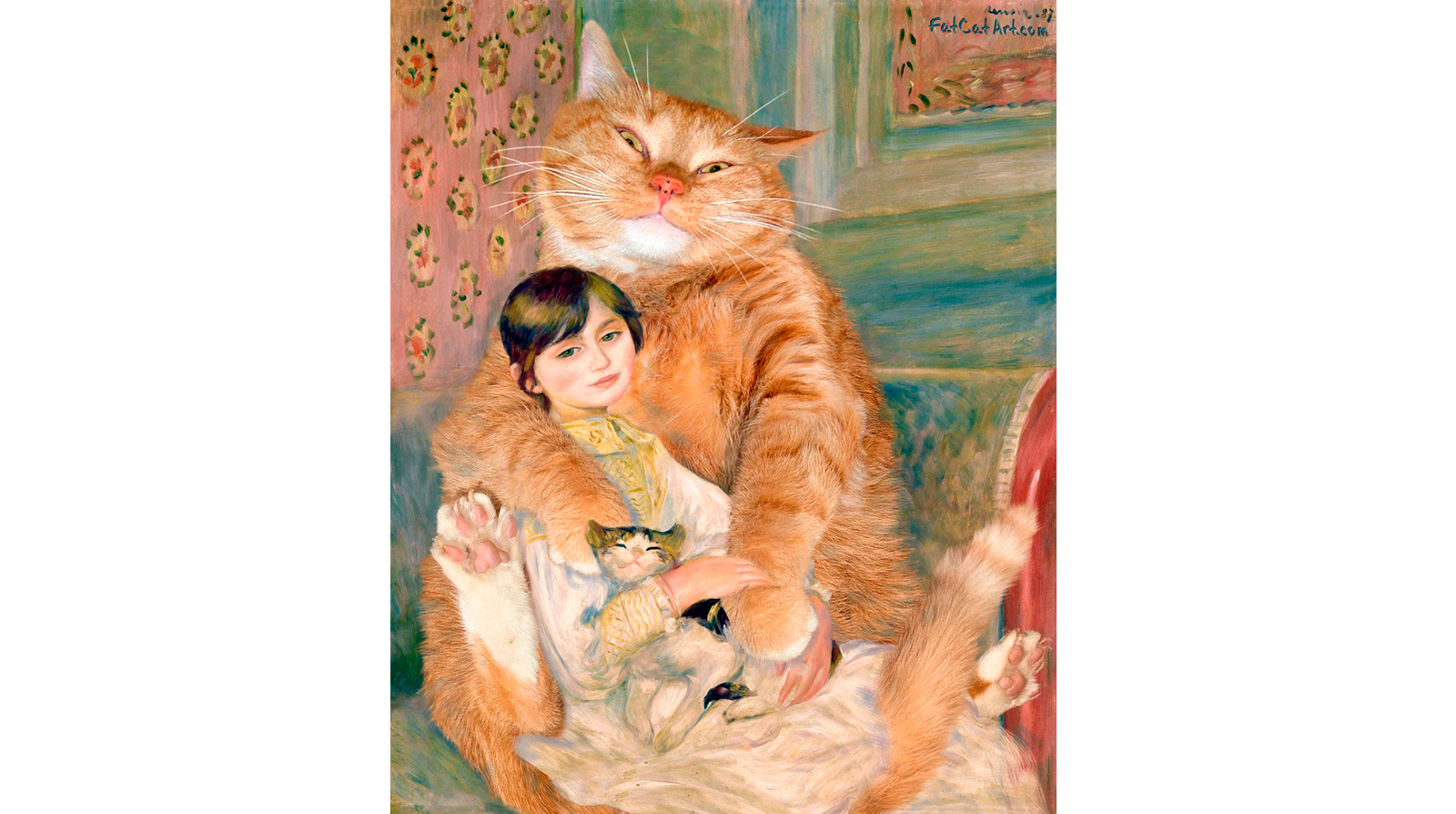 Pierre-Auguste Renoir. The Cat with Julie Manet
