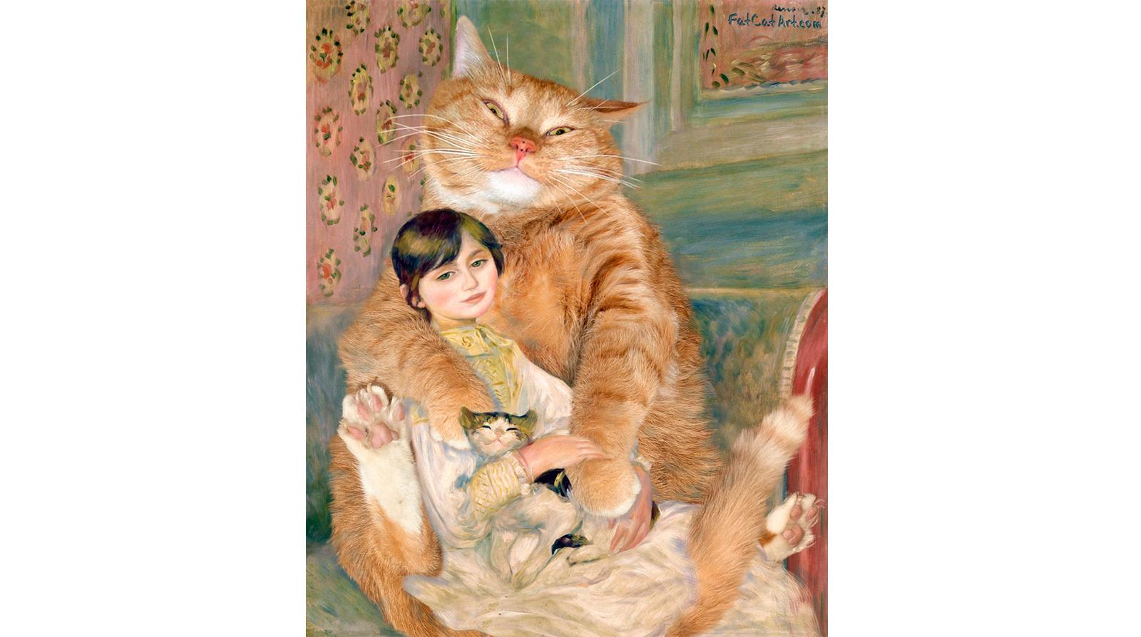 Pierre-Auguste Renoir. The Cat with Julie Manet