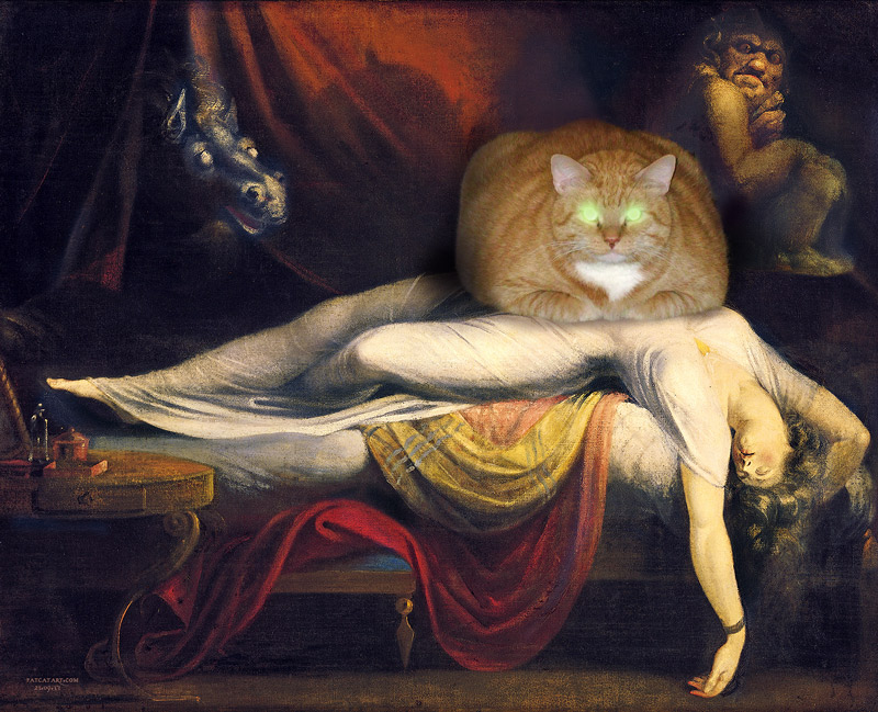 Henry Fuseli. The Nightmare Cat