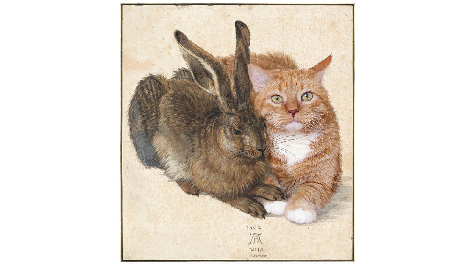 Albrecht Dürer. Hare and Cat