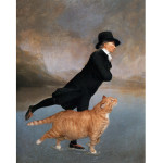Henry Raeburn, Skating Minister and Skating Cat, canvas print