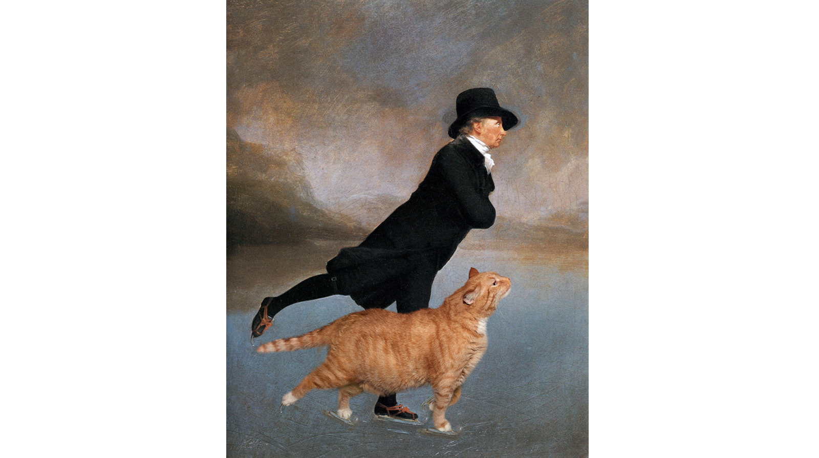 Henry Raeburn. Skating Minister and Skating Cat