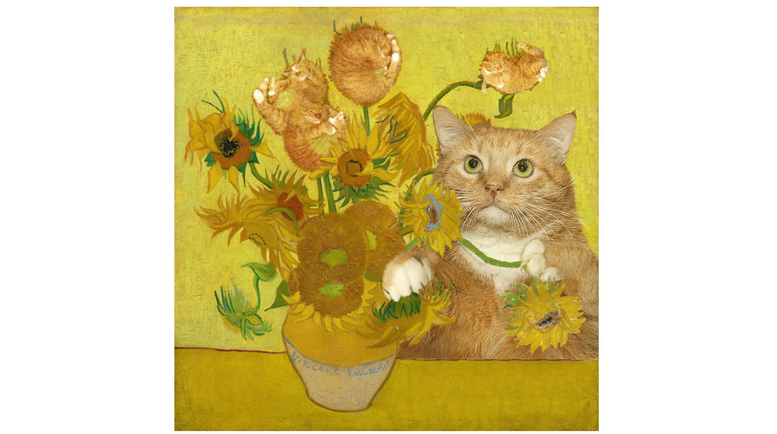 Vincent van Gogh. Sunflowers are ginger kittens