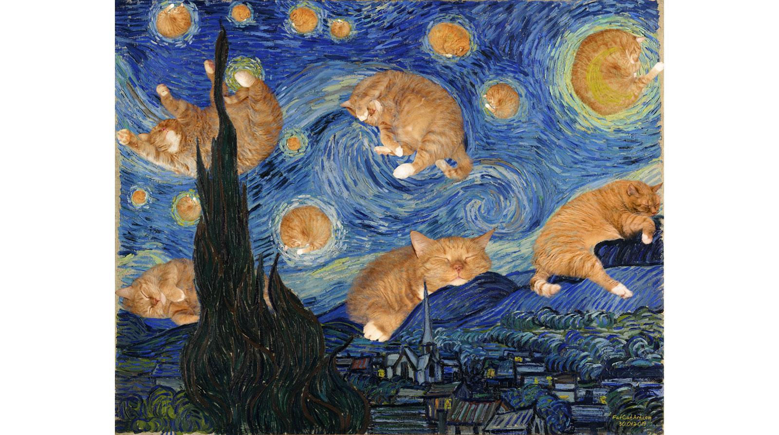 Винсент Ван Гог. Пушистая звездная ночь