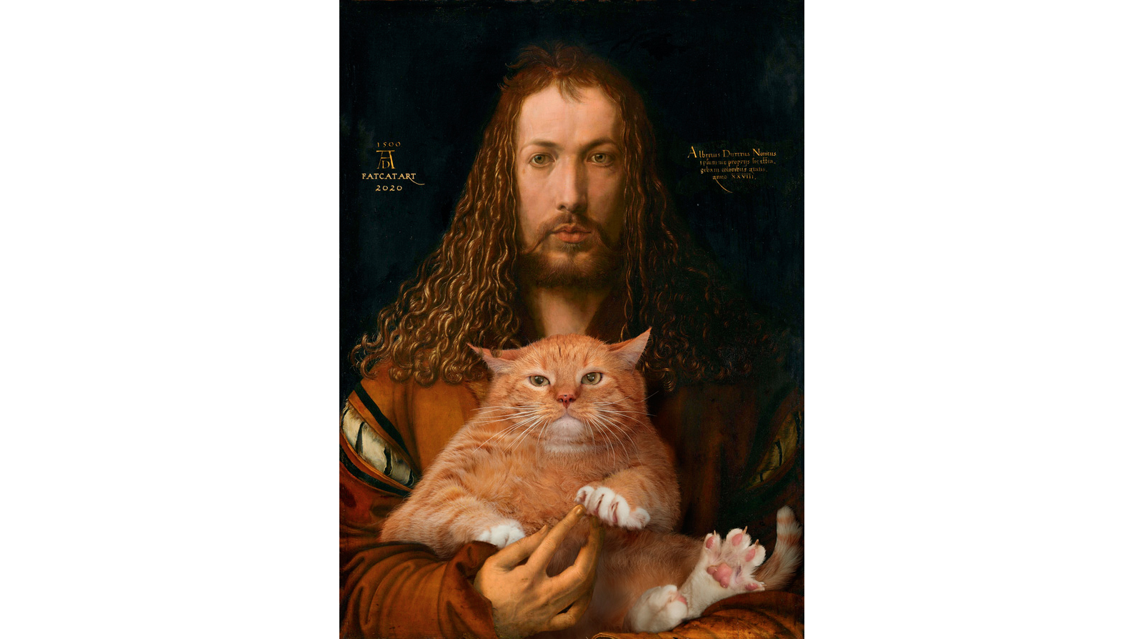 Albrecht Dürer. Self-portrait with the furball