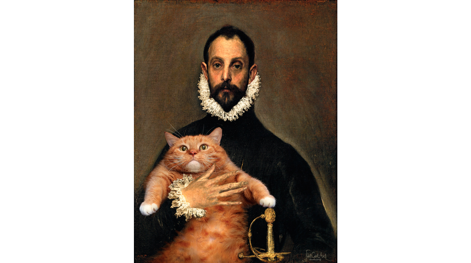 El Greco. The Nobleman with his Cat on his Chest