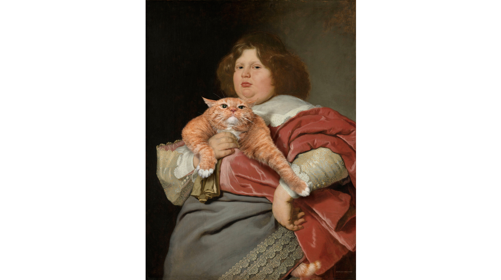 Bartholomeus van der Helst. Fat Boy and Fat Cat