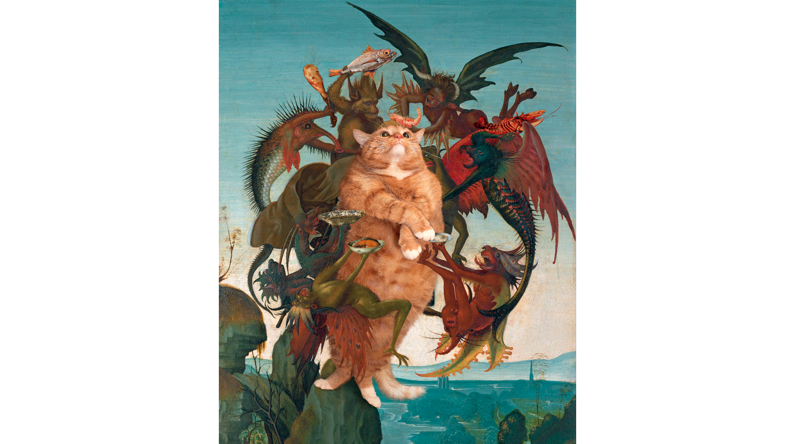 Michelangelo. The Temptation of the Fat Cat
