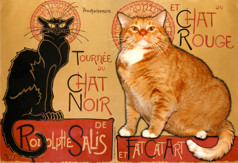 Théophile Steinlen. Black Cat and Red Cat on tour