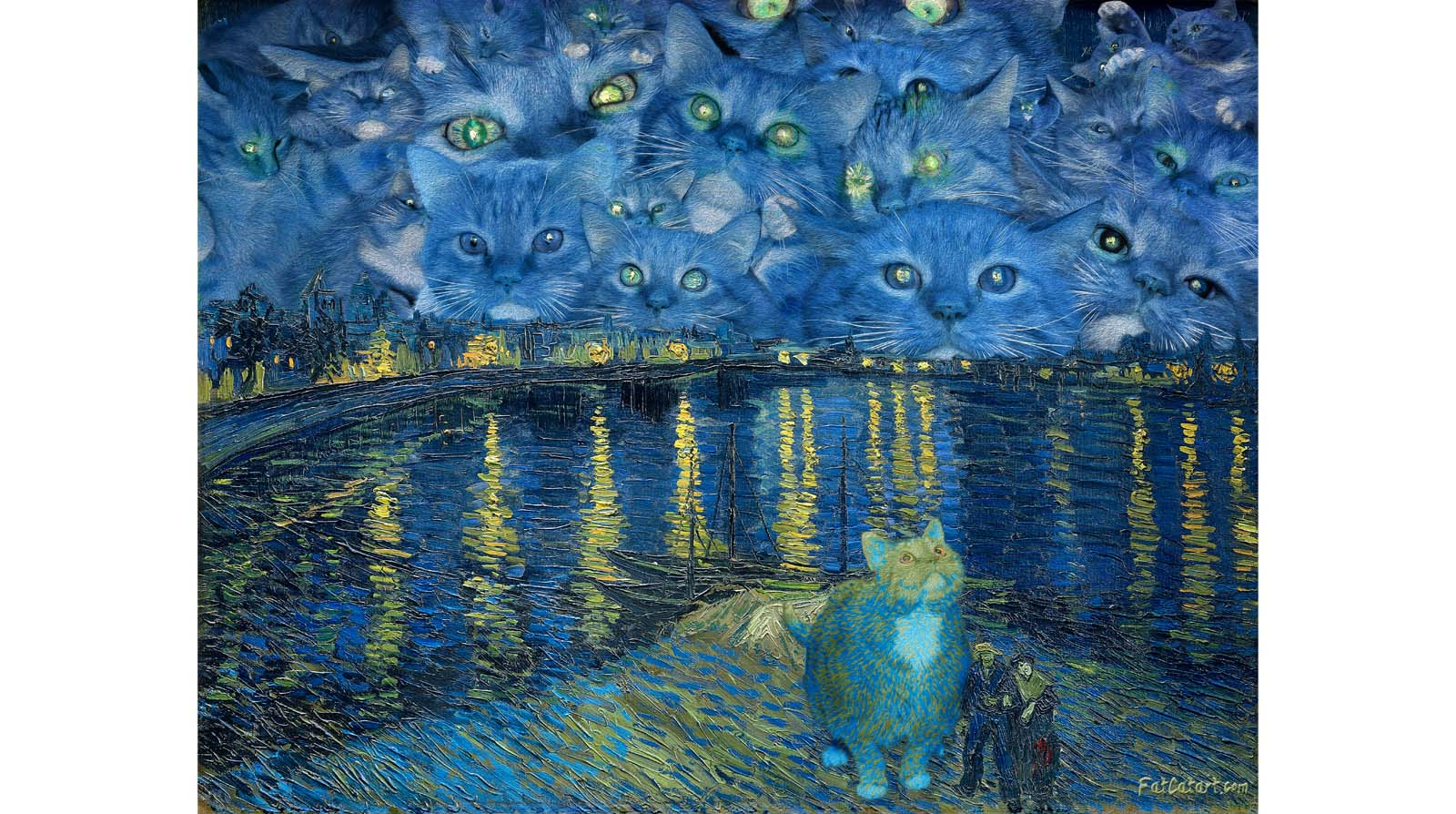 Vincent van Gogh. The Furry Starry Night over the Rhone